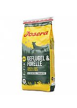 Josera Dog Geflugel & Forelle 34/18 беззерновой высокобелковый корм для взрослых собак (птица) 15 кг