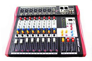 Аудио микшер Mixer 8USB \ MX 808U 8 канальный