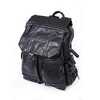 Рюкзак мужской кожаный цвет черный, натуральная кожа.