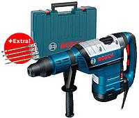 Перфоратор Bosch GBH 8-45 DV + 4 зубила SDS-Max + чемодан (0615990J8M)