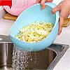 Миска для мытья фруктов риса и овощей Best Kitchen,Миска 22 см, фото 3