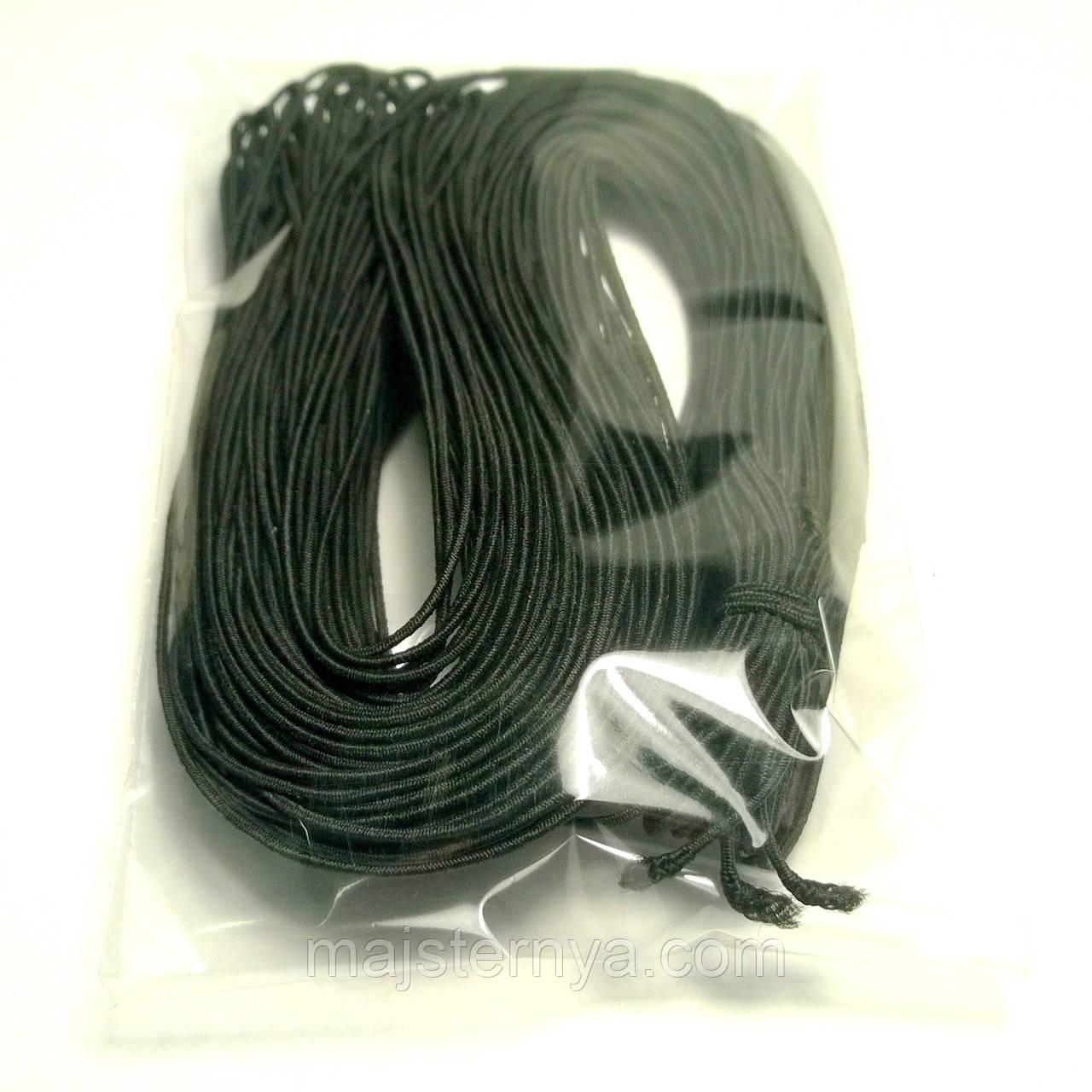 Резинка кругла 1мм чорна 27м