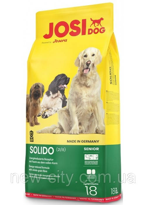 Josera JosiDog Solido 21/8 сухой корм для пожилых собак и взрослых собак с избыточным весом 18 кг