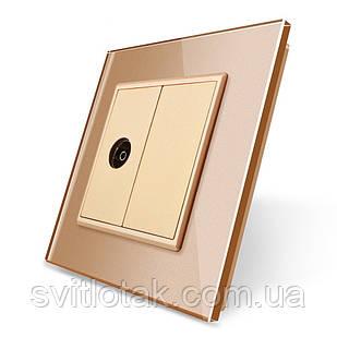 ТВ розетка Livolo золото стекло (VL-C791V-13)