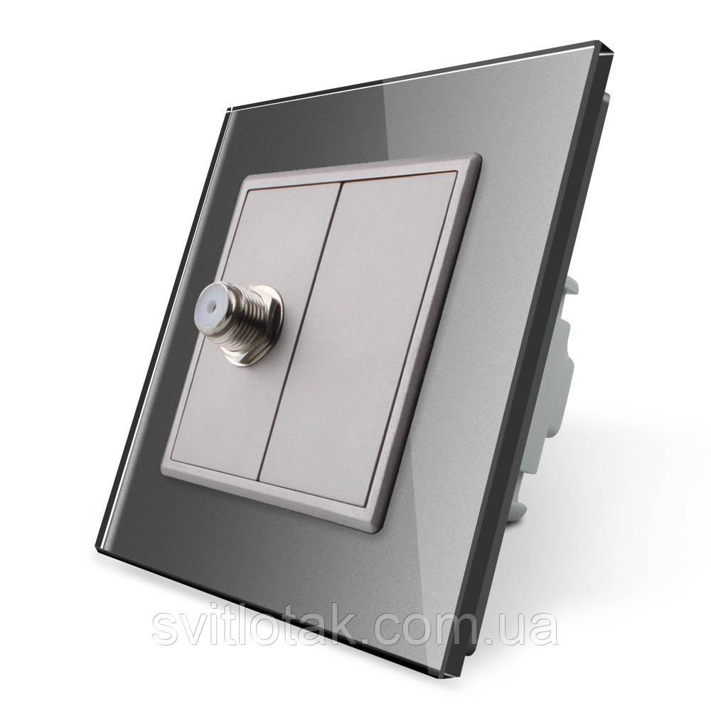 Спутниковая розетка SAT Livolo серый стекло (VL-C791ST-15)