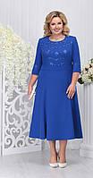 Платье Ninele-2210/5 белорусский трикотаж, василек, 56