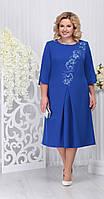 Платье Ninele-5721/2 белорусский трикотаж, василек, 52