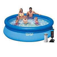 Надувной бассейн Intex 28120 - 4, 305 х 76 см (2 006 л/ч, подстилка, тент, насос)
