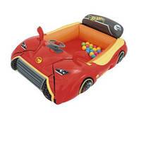 Надувной игровой центр - кровать Bestway 93404, «Тачки» 135 х 99 х 43 см, шариками 25 шт