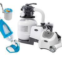 Оборудование для бассейна «Эксклюзив MAX» Intex 26646-5 (6 000 л/ч, 5 г/ч, скиммер, пылесос, шланг)