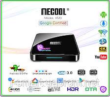 MECOOL KM3 4/64Gb Android TV 9.0 голосовой Google Certification пульт +НАСТРОЙКИ I-SMART