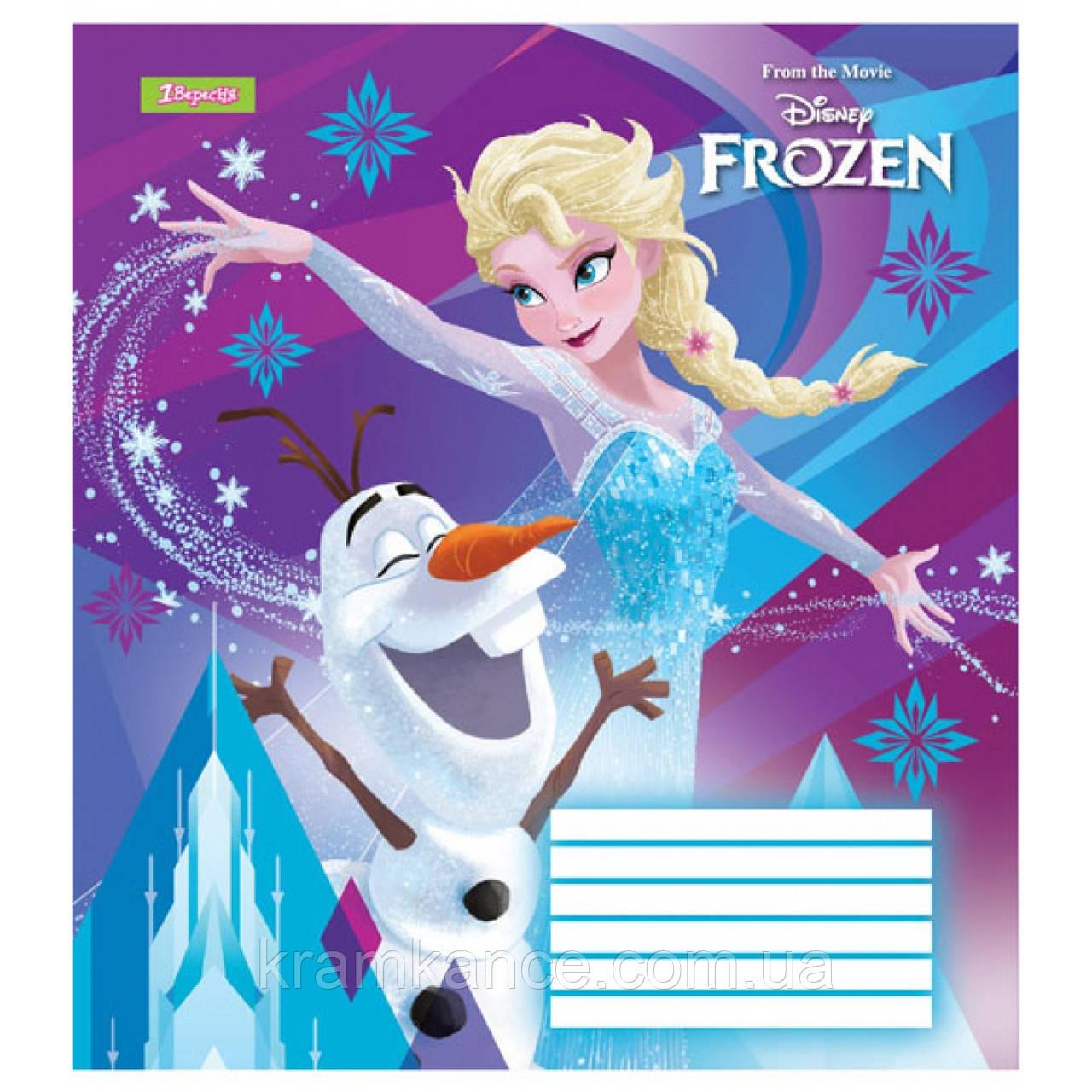 """Тетрадь 12 листов 1Везесня  """"Frozen"""" линия 763368"""