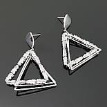 Сережки-треугольники, сфера, 925 проба, фото 3