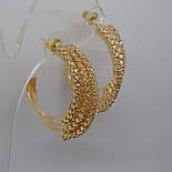 Серьги-кольца, гвоздики, позолоченные, фото 3