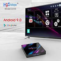 Смарт ТВ приставка H96 MAX+,  Андроид 9.0 2Gb/16Gb 4K SMART TV Android IPTV
