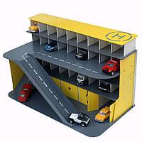 Паркинг для машинок желтый