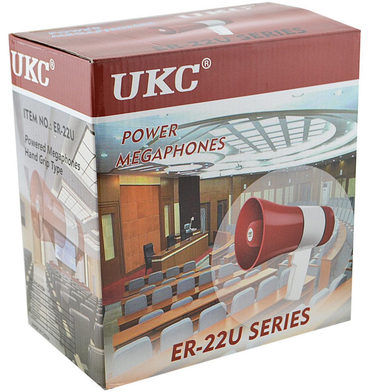 Мегафон POWER MEGAPHONE UKC ER-22U, громкоговоритель, рупор ручной