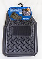 Комплект универсальных резиновых серых ковриков в салон автомобиля