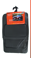 Комплект универсальных черных резиновых ковриков в салон автомобиля