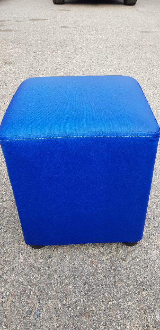 Пуфик квадрат ( синий )-35×35×40см.
