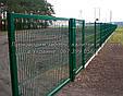 Забор из  Сварной Сетки 3Д - Секции Ограждения: ширина 2500 мм,  Zn + покрытие цвет зелёный RAL 6005, фото 3