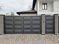 Филенчатые ворота и калитка (дизайн линза), фото 3
