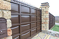 Филенчатые ворота и калитка (дизайн линза), фото 4