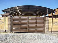 Филенчатые ворота и калитка (дизайн линза), фото 5