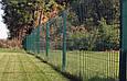 Забор из  Сварной Сетки 3Д - Секции Ограждения: ширина 2500 мм,  Zn + покрытие цвет зелёный RAL 6005, фото 2
