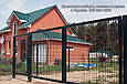 Забор из  Сварной Сетки 3Д - Секции Ограждения: ширина 2500 мм,  Zn + покрытие цвет зелёный RAL 6005, фото 9