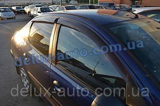 Ветровики Cobra Tuning на авто Peugeot 206 Sd 2005 Дефлекторы окон Кобра для Пежо 206 Hb 5d с 1998