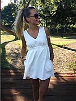 Платье женское легкое на резинке. (Мод: 254) Цвет: белый, бордо, пудра, фото 1