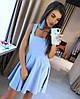 Платье летнее женское короткое голубое