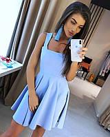Платье летнее женское короткое голубое , фото 1