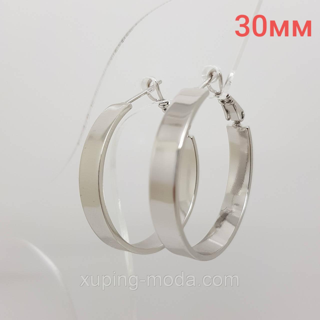 Маленькие сережки кольца конго, xuping, под серебро