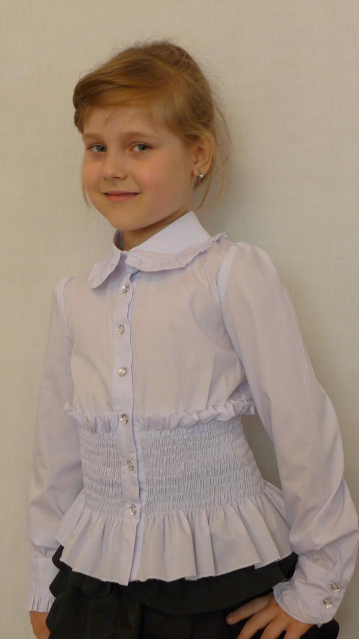 """Блузка для девочки """"Резиночка-длиный рукав"""""""