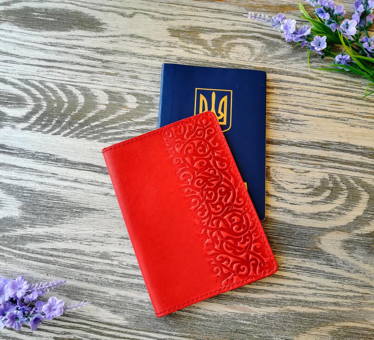 Обложка на паспорт морковные восточные узоры (матовая)