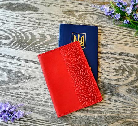 Обложка на паспорт морковные восточные узоры (матовая), фото 2