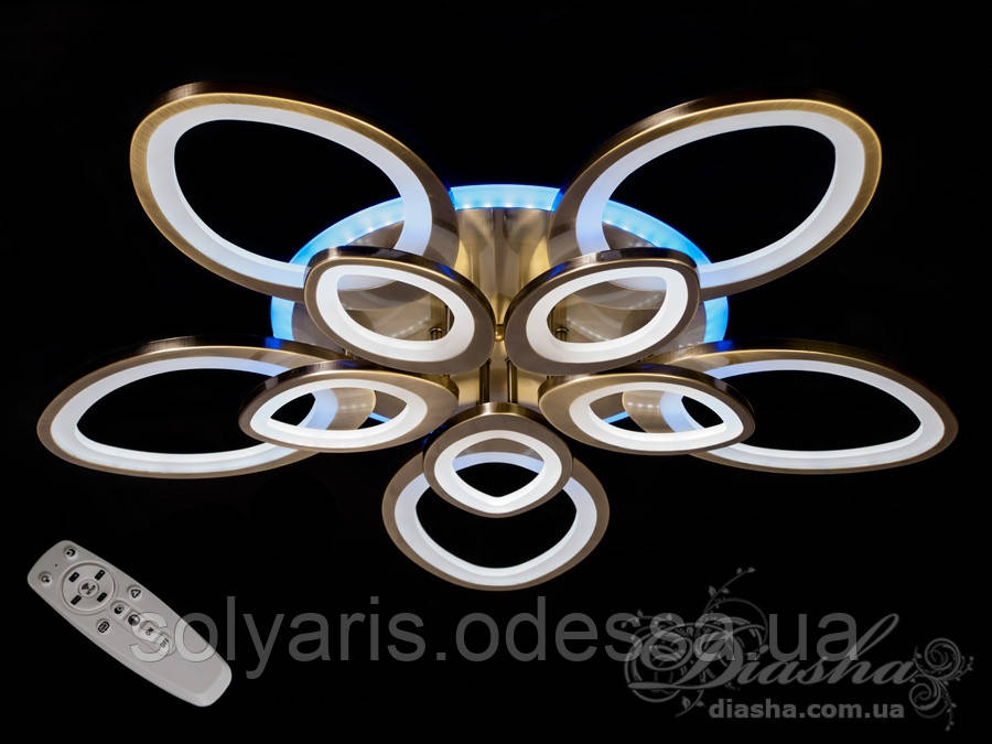 Потолочная LED-люстра с диммером и подсветкой, 185W 3009/5+5BR LED dimmer