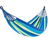 Гамак мексиканский тканевый хлопок 100% лежак 195*80см  + крепления+ рюкзак до 120 кг для сада зеленый