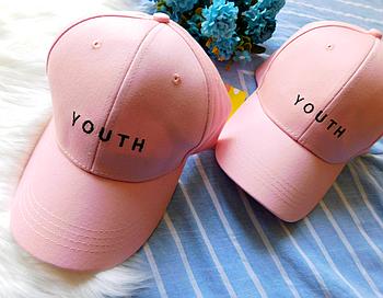 Кепка бейсболка Youth розовая
