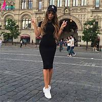 Платье летнее миди СУПЕР ЦЕНА! Черное