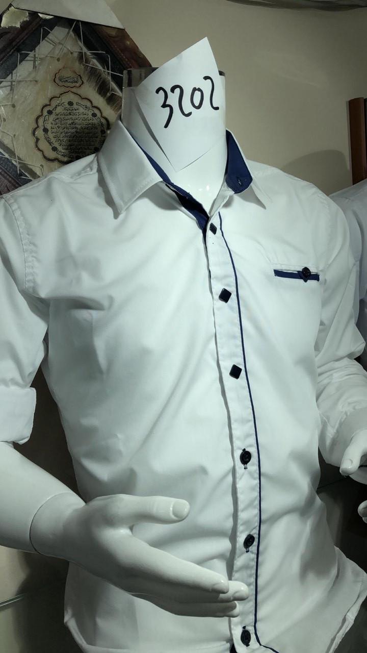 Рубашки белые для мальчиков 2-7 лет Ikoras