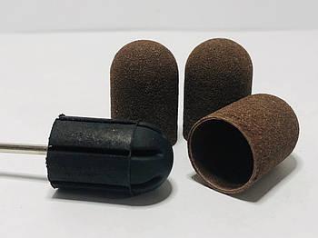 Набор для аппаратного педикюра (насадка + 3 песочных колпачка) размер 16*80 и 16*180