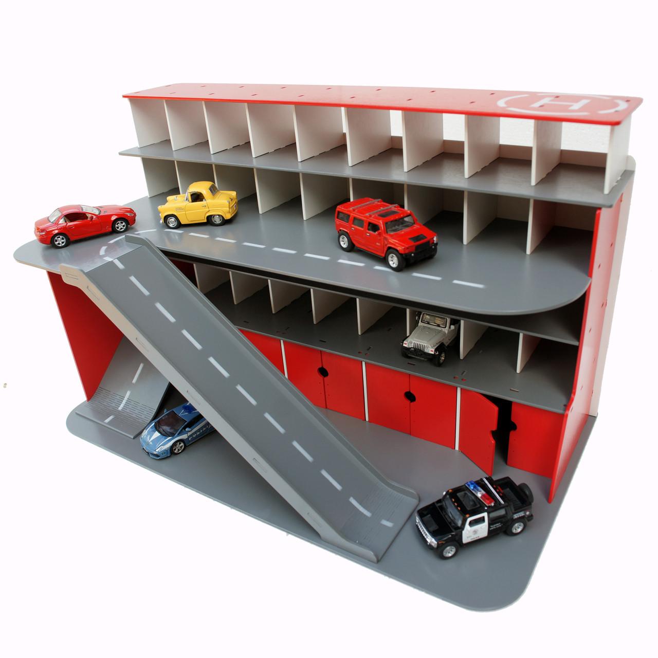 Паркинг для машинок красный