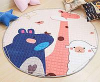 Детский игровой коврик-мешок для игрушек 2в1 В мире животных - 143018