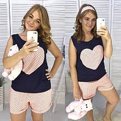 Летняя пижама с сердцем