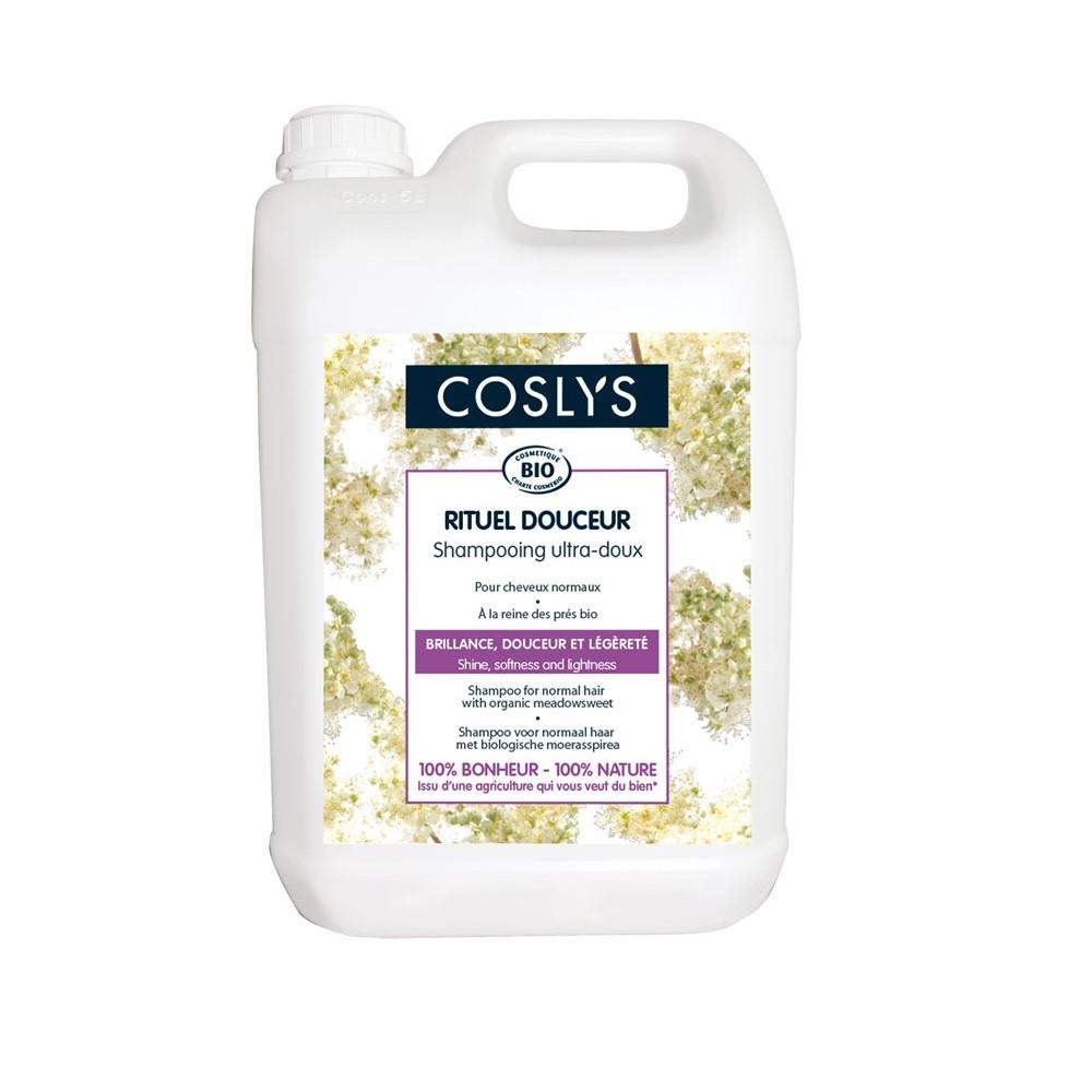 Шампунь с органической таволгой для нормальных волос Coslys,5 л