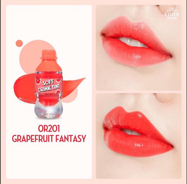Etude House Soft Drink Tint Grapefruit Fantasy OR 201