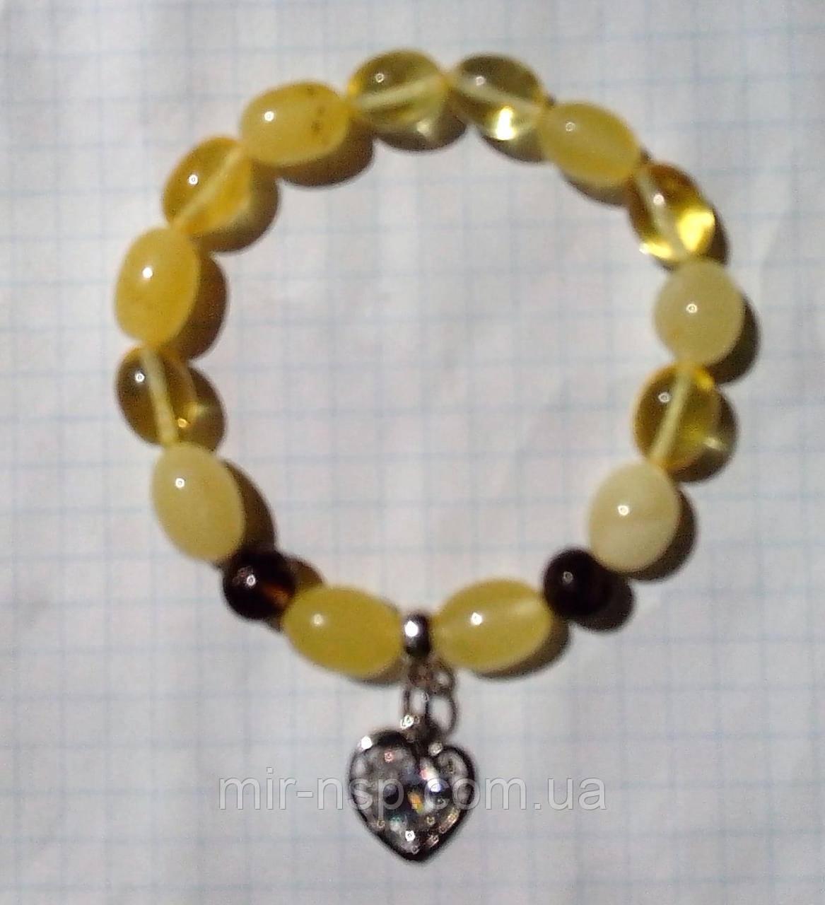 Браслет натуральный янтарь пейзажный олива 12*8 мм вес 11г